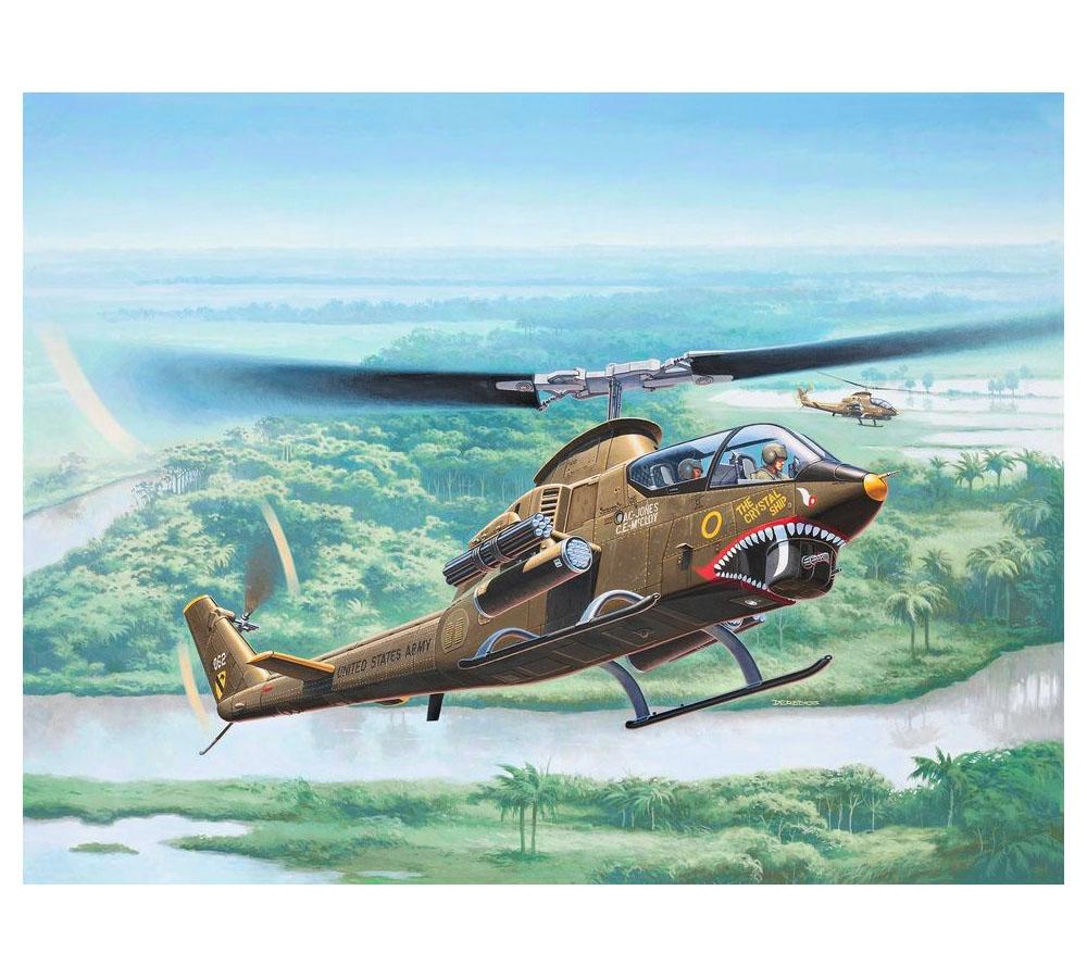 Bell AH-1G Cobra Elicottero Helicopter 1:100 Plastic Model Kit 04954 REVELL